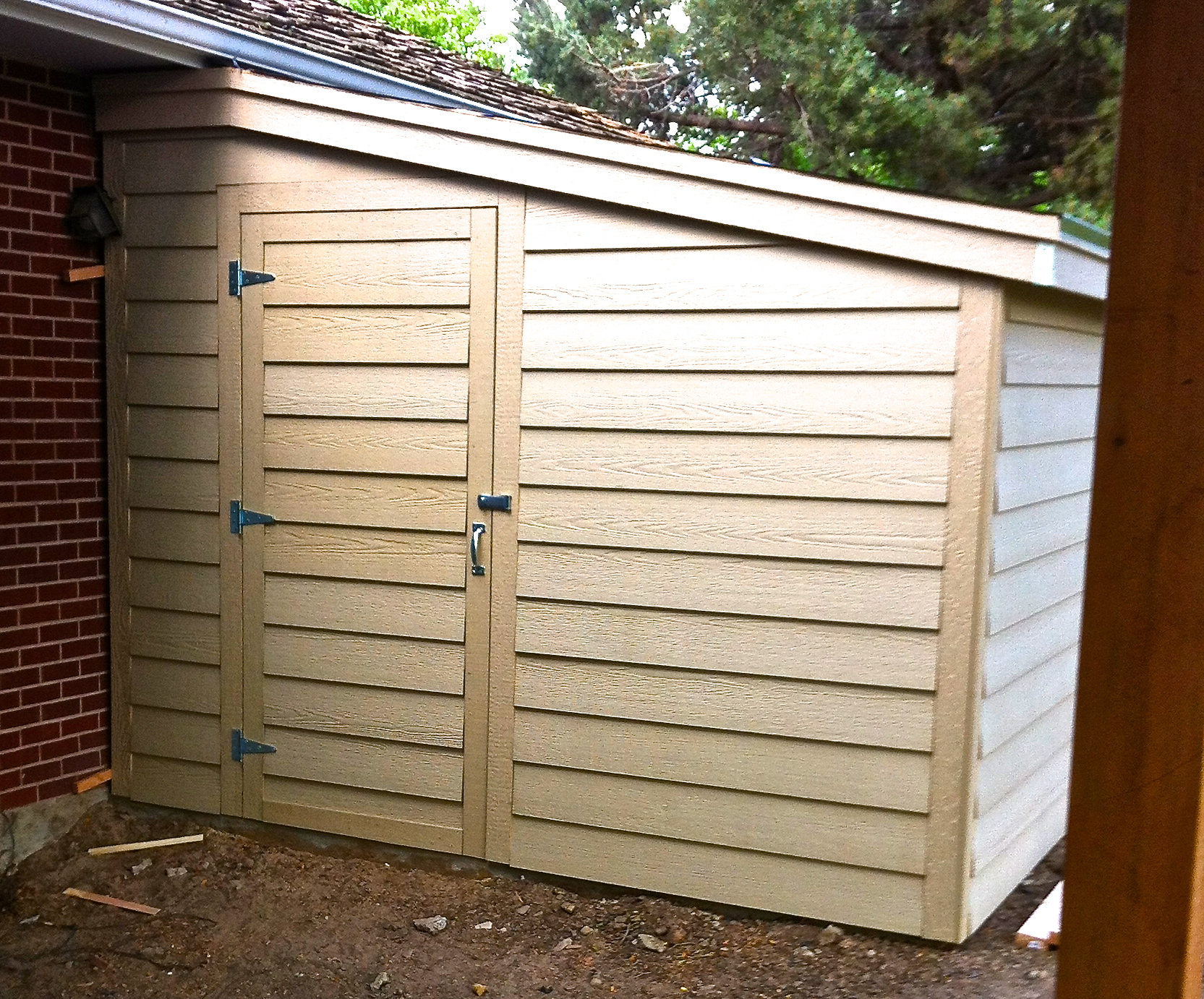 How to build a storage shed attached to your home jim for Building a storage shed