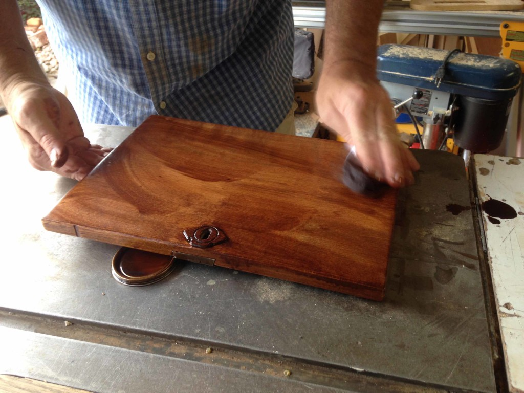 Staining Wood Box With Minwax English Chestnut Stain