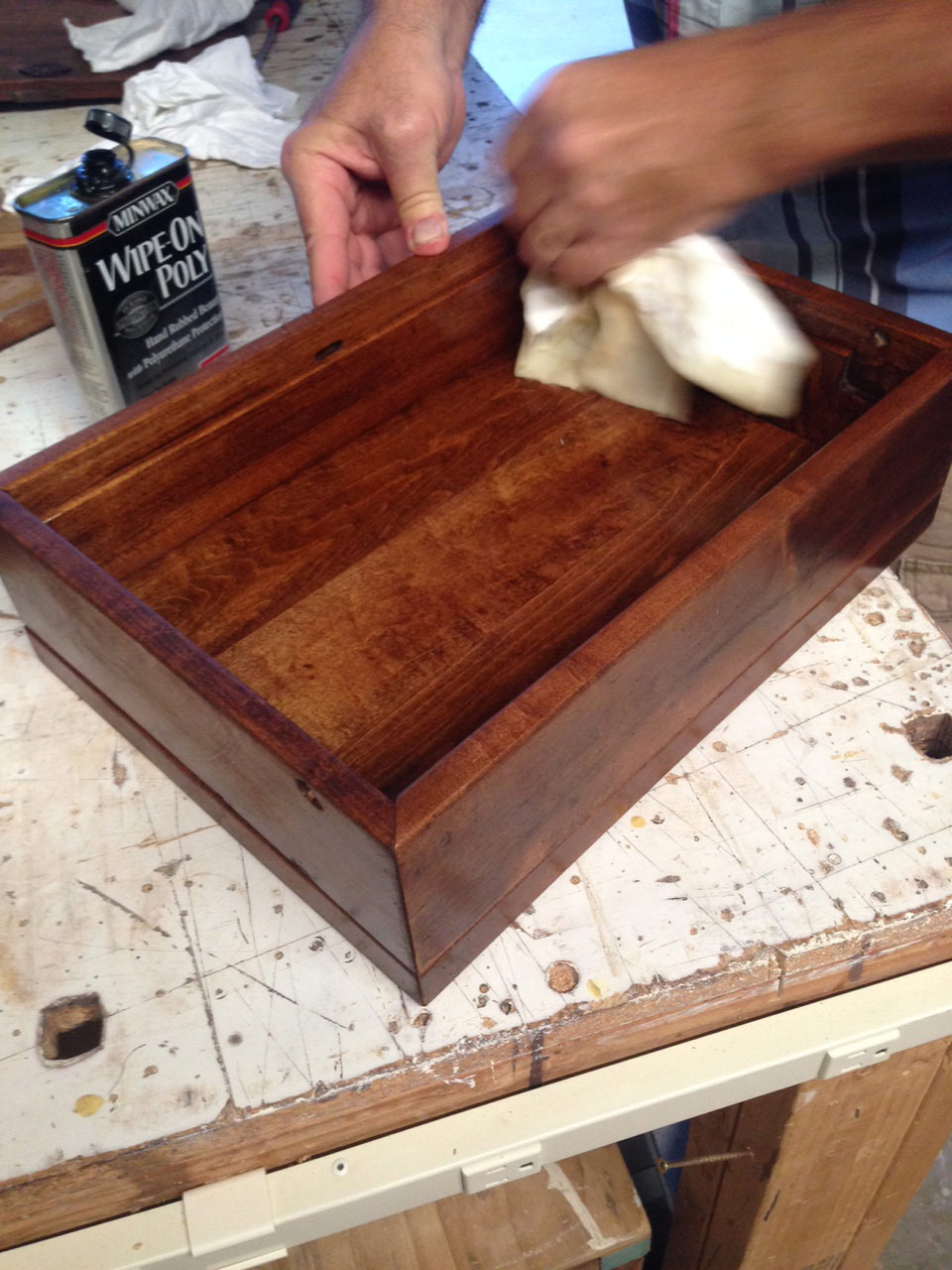 Wipe On Poly Finish For Wood Box & How To Build A Small Wooden Box Using The Parts From An Old ... Aboutintivar.Com