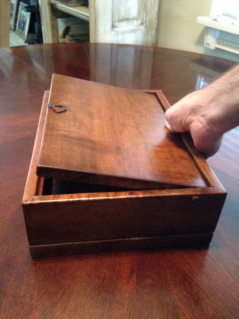 Wooden Box Lid Opening
