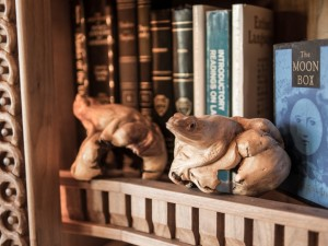 Doug Sr. Home Library Carved Frogs