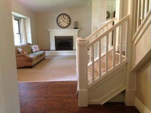 Hillan Home Remodel Stairway and Fireplace Mantel