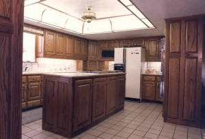 Webb Oak Kitchen with a Dome Ceiling