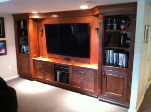 Holmes Entertainment Center Cherry Wood