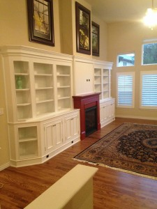 Mcvey Built In Bookcases and Fireplace Surround
